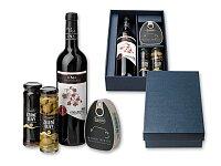 CARTAGENA - dárková sada - víno, šunka, 2 × olivy