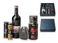 SAN SEBASTIAN - dárková sada - víno, šunka, 3 × paštika, 2 × olivy