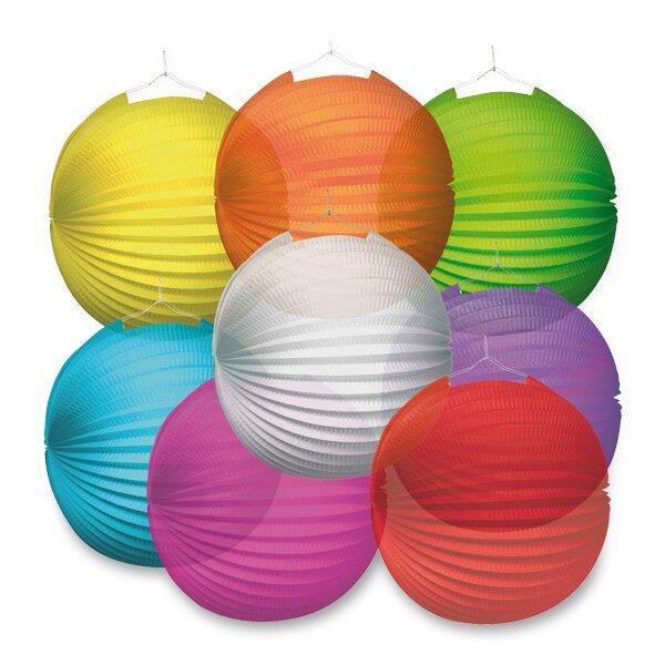Papírový lampion Transparent průměr 25 cm, mix barev
