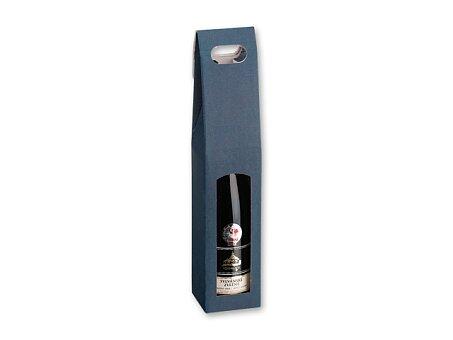 Obrázek produktu SINGLE BOX - dárková krabice na víno, tmavě modrá