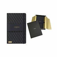 CASTELLI BLACK - poznámkový zápisník s gumičkou 130x210 mm, černá