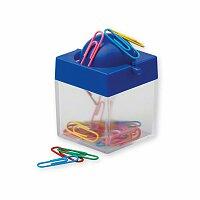 CLIPBOX - plastová krabička na kancelářské sponky, modrá