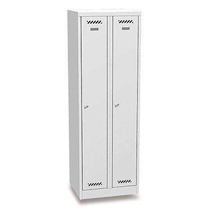 Obrázek produktu BAS 32A - šatní skříň - šedo-šedá, uzávěr pro visací zámek