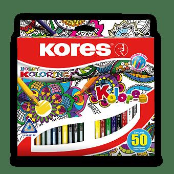 Obrázek produktu Pastelky Kores Kolores Mandalas - 50 barev