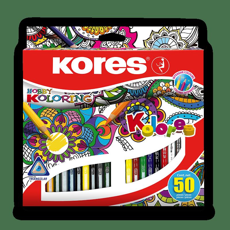 Pastelky Kores Kolores Mandalas 50 barev Kores