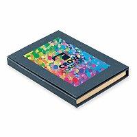 GIFFER - psací blok s lepicími papírky, kuličkovým perem, 2 tužkami, výběr barev