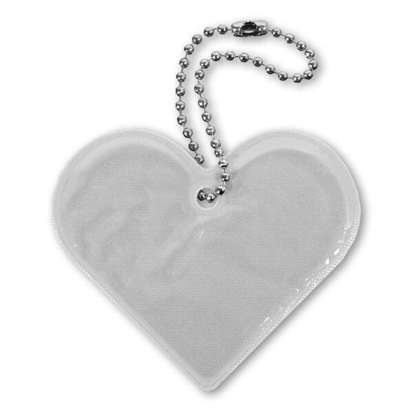 Reflexní přívěsek Comapss Srdce stříbrný