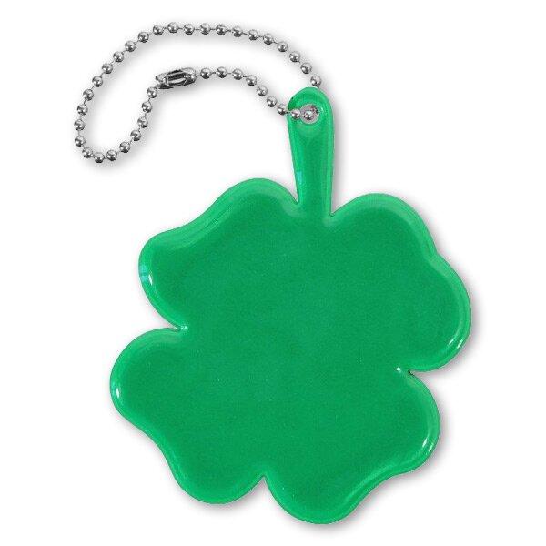 Reflexní přívěsek čtyřlístek zelený