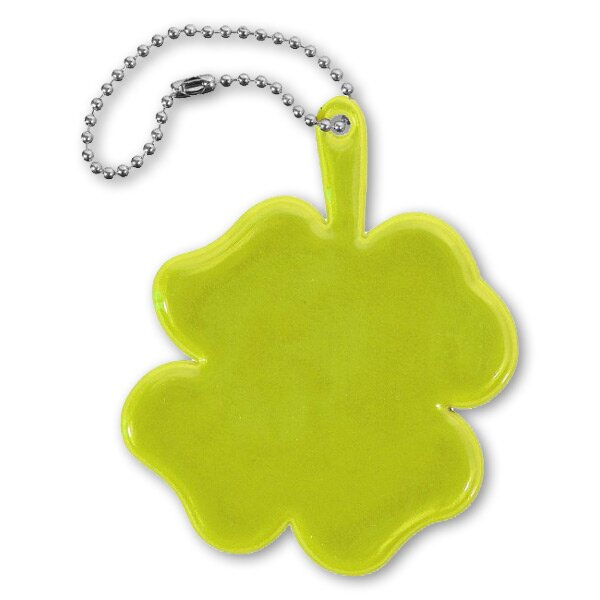 Reflexní přívěsek čtyřlístek žlutý