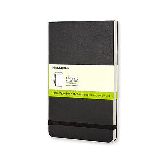 Obrázek produktu Zápisník Moleskine Reporter - tvrdé desky - L, čistý, černý