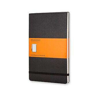 Obrázek produktu Zápisník Moleskine Reporter - tvrdé desky - L, linkovaný, černý