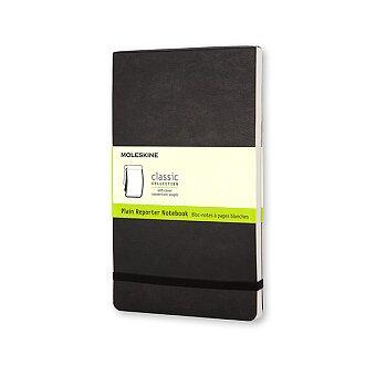 Obrázek produktu Zápisník Moleskine Reporter - měkké desky - S, čistý, černý