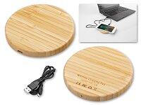 WOODER - bezdrátová dřevěná nabíječka, přírodní