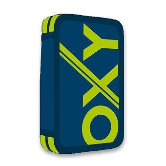 Obrázek produktu Penál OXY Sport Blue Line Green - 2patrový, bez náplně