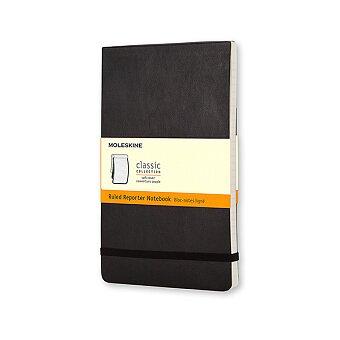 Obrázek produktu Zápisník Moleskine Reporter - měkké desky - S, linkovaný, černý