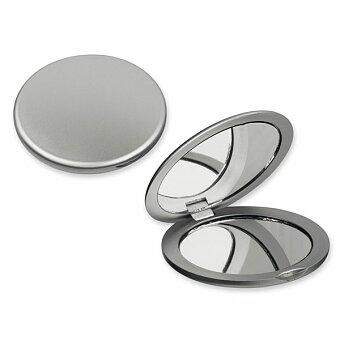 Obrázek produktu MEIRA - plastové kapesní zrcátko, výběr barev - stříbrná