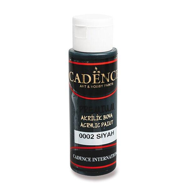 Akrylové barvy Cadence Premium černá