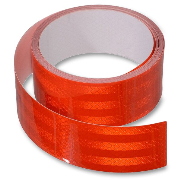 Samolepící reflexní páska 5 cm x 1 m červená