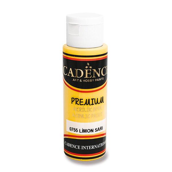 Akrylové barvy Cadence Premium žlutá