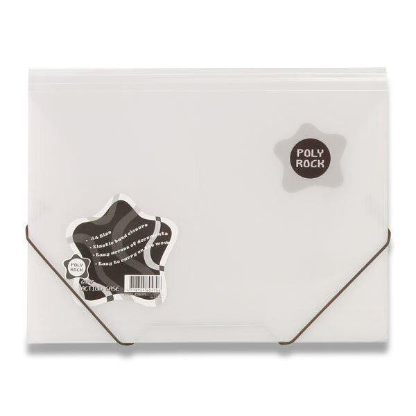 3chlopňové desky Poly Rock bílé, A4