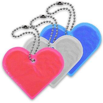 Obrázek produktu Reflexní přívěsek Comapss Srdce - výběr barev