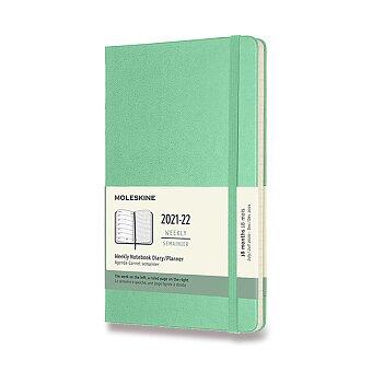 Obrázek produktu 18měsíční diář Moleskine 2021-22 - tvrdé desky - L, týdenní, sv.zelený