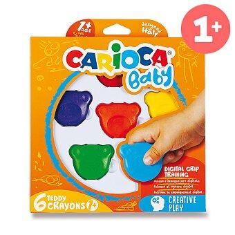Obrázek produktu Plastové pastely Carioca Teddy Crayons - 6 barev