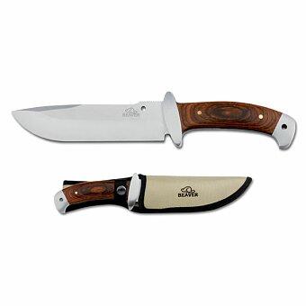 Obrázek produktu BEAVER NORRIS - nerezový lovecký nůž v pouzdře, ostří 16,5 cm