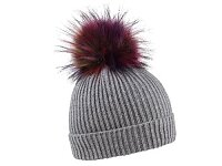 CAPPIE - zimní čepice s barevnou bambulí