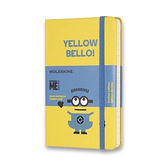 Obrázek produktu Zápisník Moleskine Mimoni - tvrdé desky - S, linkovaný, žlutý