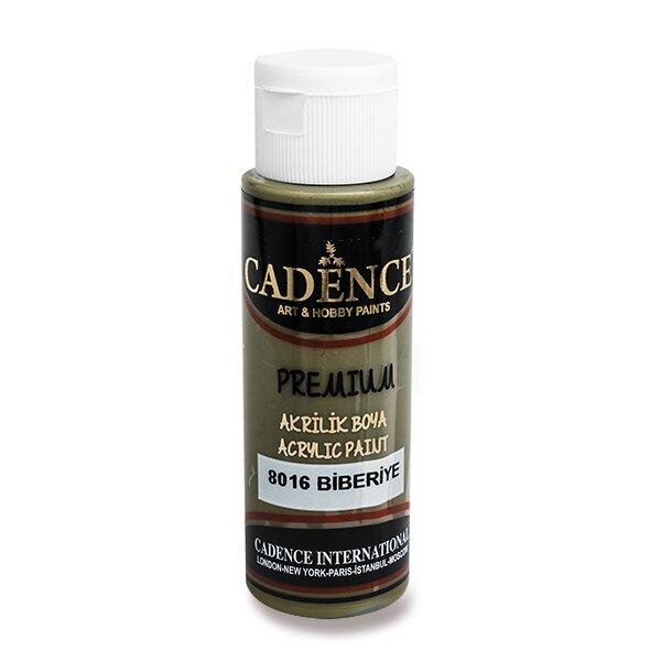 Akrylové barvy Cadence Premium hnědozelená