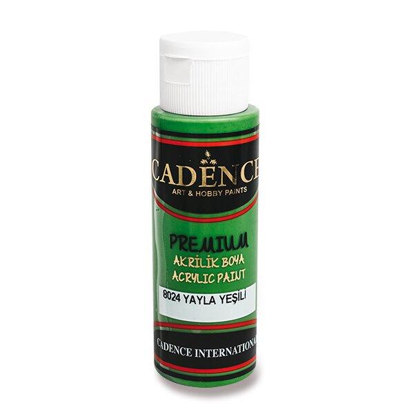 Akrylové barvy Cadence Premium zelená