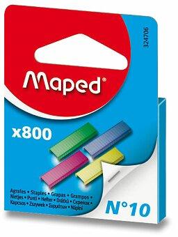 Obrázek produktu Barevné drátky do sešívačky Maped No. 10 - 800 ks