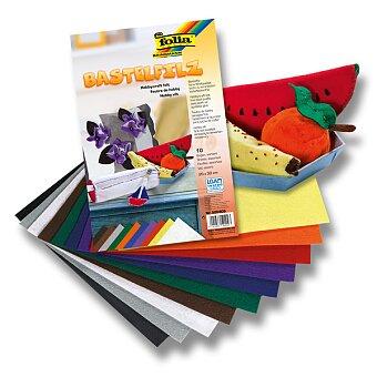 Obrázek produktu Filcový papír Folia - 10 listů, mix barev