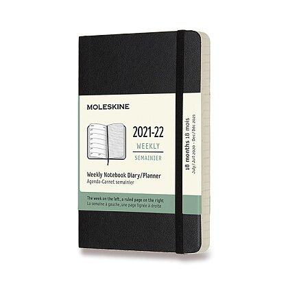 Obrázek produktu Moleskine 2021-22 - 18měsíční diář v měkkých deskách - velikost S, týdenní, černý