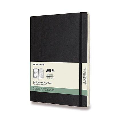 Obrázek produktu Moleskine 2021-22 - 18měsíční diář v měkkých deskách - velikost XL, týdenní, černý