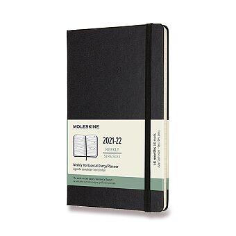 Obrázek produktu 18měsíční diář Moleskine 2021-22 - tvrdé desky - L, týdenní, horizontální, černý