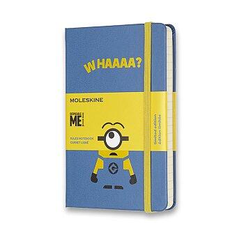 Obrázek produktu Zápisník Moleskine Mimoni - tvrdé desky - S, linkovaný, modrý