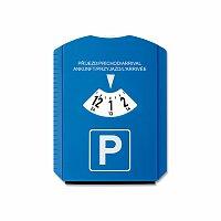 LAURIEN - plastové parkovací hodiny se škrabkou, modrá