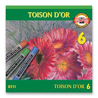 Obrázek produktu Křídy prašné Koh-i-noor TOISON D´OR 8511 - 6 barev