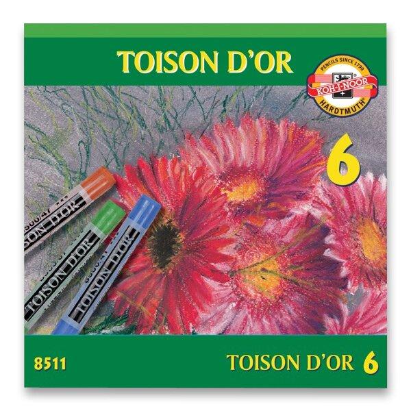 Křídy prašné Koh-i-noor TOISON D´OR 8511 6 barev