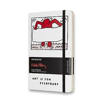 Obrázek produktu Zápisník Moleskine Keith Haring - tvrdé desky - L, čistý, bílý