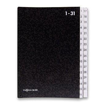 Obrázek produktu Podpisová třídící kniha Pagna - A4, 1 - 31, černá
