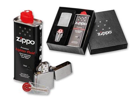 Obrázek produktu ZIPPO BRUSH SET - Dárk. sada - zapalovač, náplň a náhradní kamínky