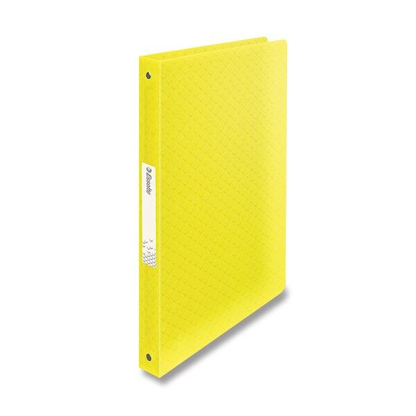 4kroužkový pořadač Esselte Colour´Ice ledově žlutý