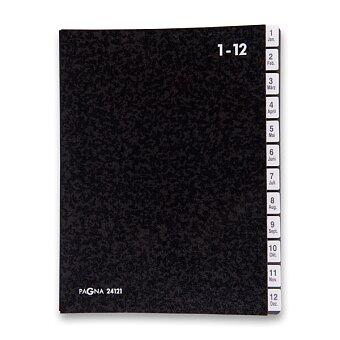 Obrázek produktu Podpisová třídící kniha Pagna - A4, 1 - 12 měsíců, černá