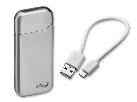 Obrázek produktu ESCOBAR - kovový USB zapalovač se žhavící spirálou a dobíjecím kabelem