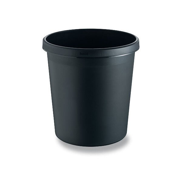 Odpadkový koš Helit černý