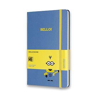 Obrázek produktu Zápisník Moleskine Mimoni - tvrdé desky - L, linkovaný, modrý