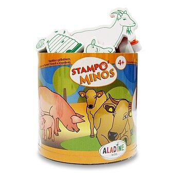 Obrázek produktu Razítka Aladine Stampo Minos - Zvířátka na farmě - 23 razítek